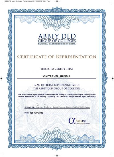 official representative of the abbey dld group of colleges